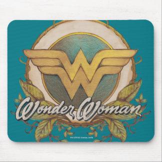 Wonder Woman Foliage Sketch Logo Mouse Pad