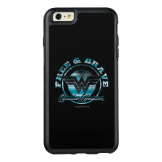 Wonder Woman Free & Brave Grunge Graphic OtterBox iPhone 6/6s Plus Case
