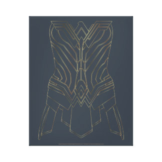 Wonder Woman Gold & Navy Armor Outline Canvas Print