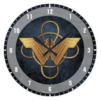Wonder Woman Gold Symbol Over Lasso Clocks