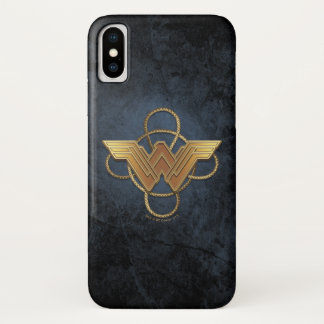 Wonder Woman Gold Symbol Over Lasso iPhone X Case