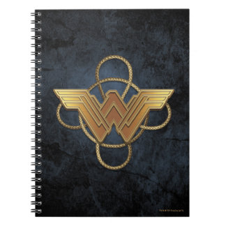 Wonder Woman Gold Symbol Over Lasso Notebooks