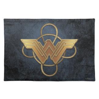Wonder Woman Gold Symbol Over Lasso Placemat
