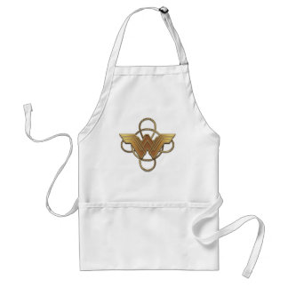 Wonder Woman Gold Symbol Over Lasso Standard Apron