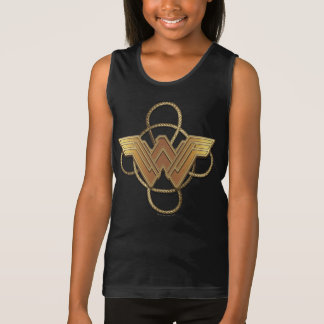 Wonder Woman Gold Symbol Over Lasso Tank Top