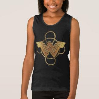 Wonder Woman Gold Symbol Over Lasso Tank Top