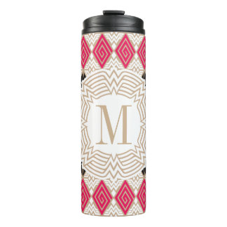 Wonder Woman Greek Pattern Thermal Tumbler