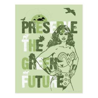 Wonder Woman Green Future Postcard