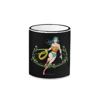 Wonder Woman Green Vines Coffee Mugs