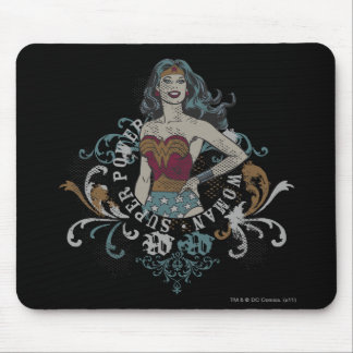 Wonder Woman Halftone Mouse Pad