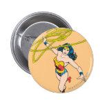 Wonder Woman Holds Lasso 2 2 Inch Round Button