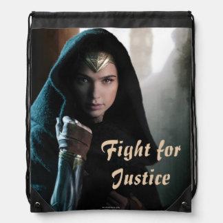 Wonder Woman in Cloak Drawstring Bag