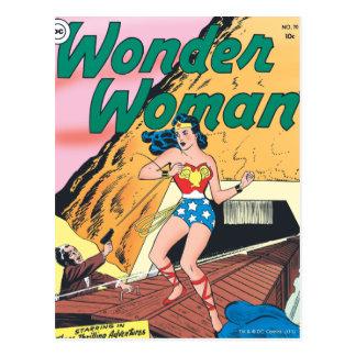 Wonder Woman Invisible Trail Postcard