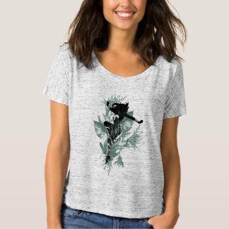 Wonder Woman Landing Foliage Graphic T-Shirt
