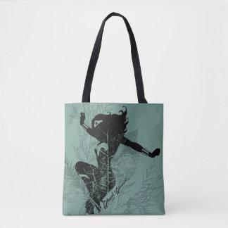 Wonder Woman Landing Foliage Graphic Tote Bag