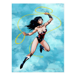 Wonder Woman & Lasso of Truth Postcard