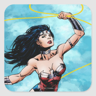 Wonder Woman & Lasso of Truth Square Sticker
