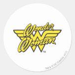 Wonder Woman Logo 1 Classic Round Sticker