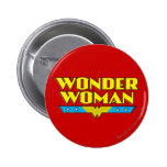 Wonder Woman Name and Logo 2 Inch Round Button