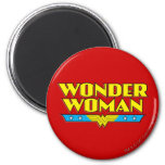 Wonder Woman Name and Logo 2 Inch Round Magnet