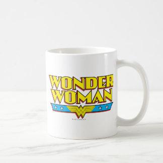 Wonder Woman Name and Logo Coffee Mug