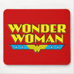 Wonder Woman Name and Logo Mousepads