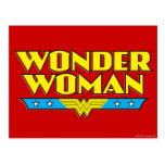 Wonder Woman Name and Logo Postcard