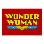 Wonder Woman Name and Logo Poster