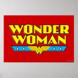 Wonder Woman Name and Logo Poster