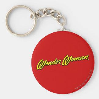 Wonder Woman Name Basic Round Button Keychain