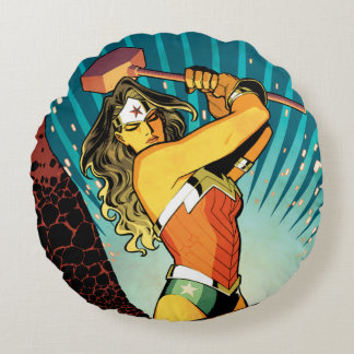 Wonder Woman New 52 Comic Cover #7 Round Pillow