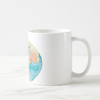 Wonder Woman Ocean Sky Classic White Coffee Mug
