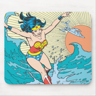 Wonder Woman Ocean Sky Mouse Pad