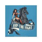 Wonder Woman on Horse Comic Art Canvas Print