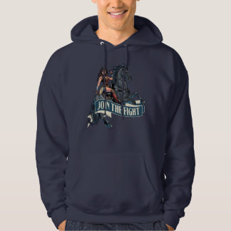 Wonder Woman on Horse Comic Art Hoodie