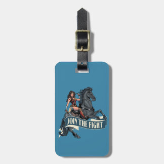Wonder Woman on Horse Comic Art Luggage Tag