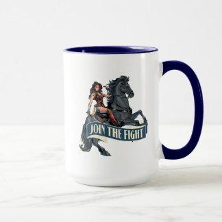 Wonder Woman on Horse Comic Art Mug