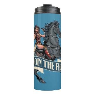 Wonder Woman on Horse Comic Art Thermal Tumbler
