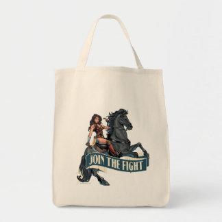 Wonder Woman on Horse Comic Art Tote Bag