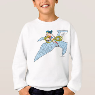 Wonder Woman on Spaceship Sweatshirt