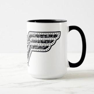 Wonder Woman Paisley Logo Mug