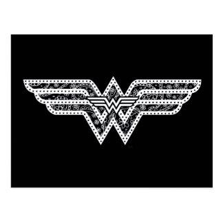 Wonder Woman Paisley Logo Postcard