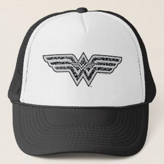 Wonder Woman Paisley Logo Trucker Hat