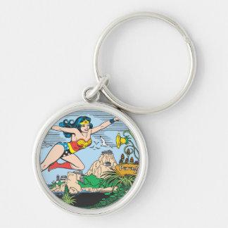 Wonder Woman Paradise Island Keychain
