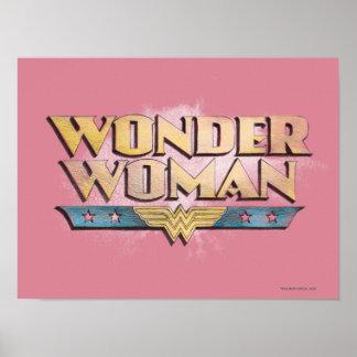Wonder Woman Pencil Logo Poster