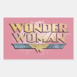 Wonder Woman Pencil Logo Rectangular Sticker