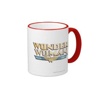 Wonder Woman Pencil Logo Ringer Mug
