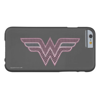 Wonder Woman Pink and Black Checker Mesh Logo Barely There iPhone 6 Case