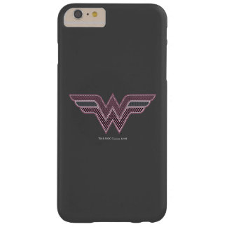 Wonder Woman Pink and Black Checker Mesh Logo Barely There iPhone 6 Plus Case