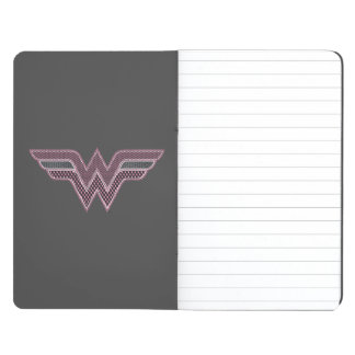 Wonder Woman Pink and Black Checker Mesh Logo Journal